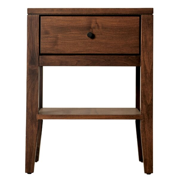Bittle 1 Drawer Nightstand by Winston Porter
