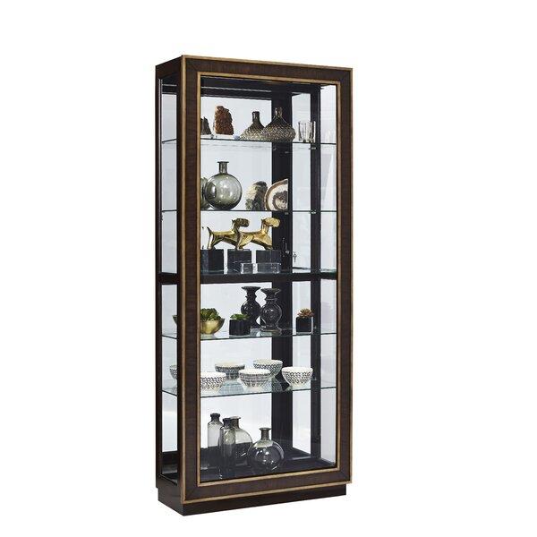 Jedediah Lighted Curio Cabinet by Bloomsbury Market Bloomsbury Market