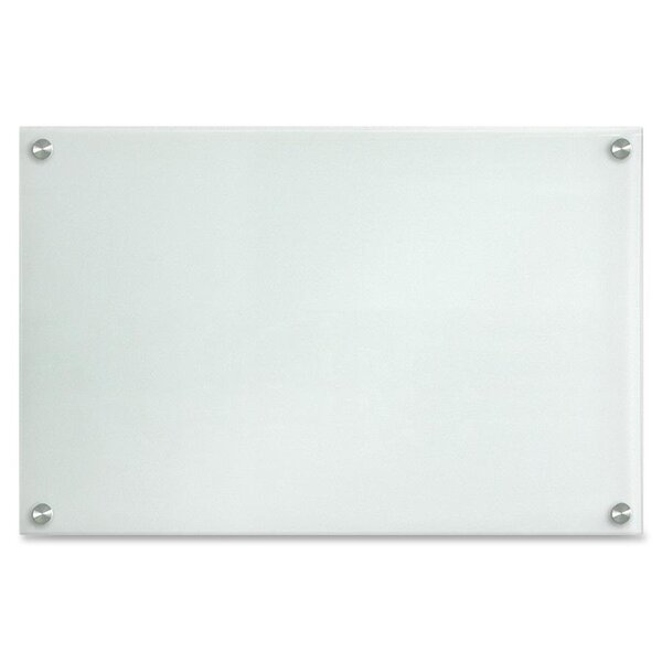 Dry-Erase Wall Mounted Glass Board by Lorell