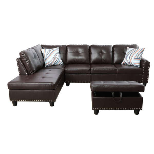 Eveloe Sectional with Ottoman by Winston Porter