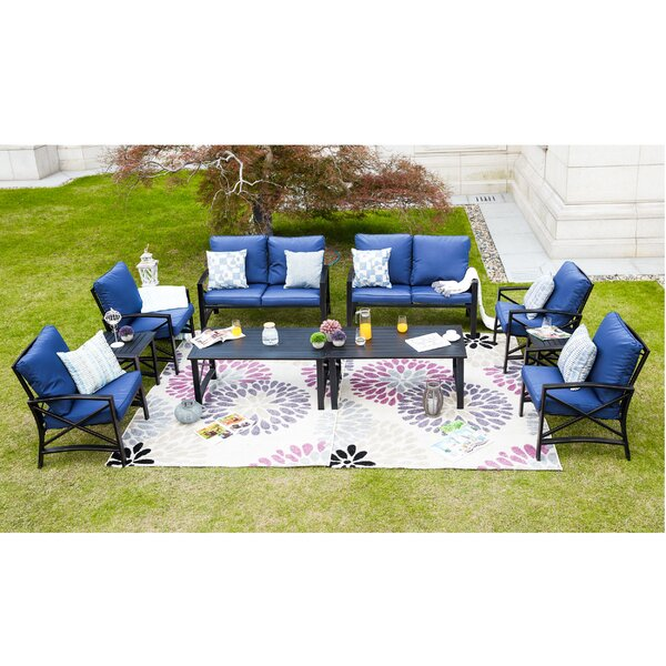 Renteria 10 Piece Sofa Seating Group with Cushions by Alcott Hill