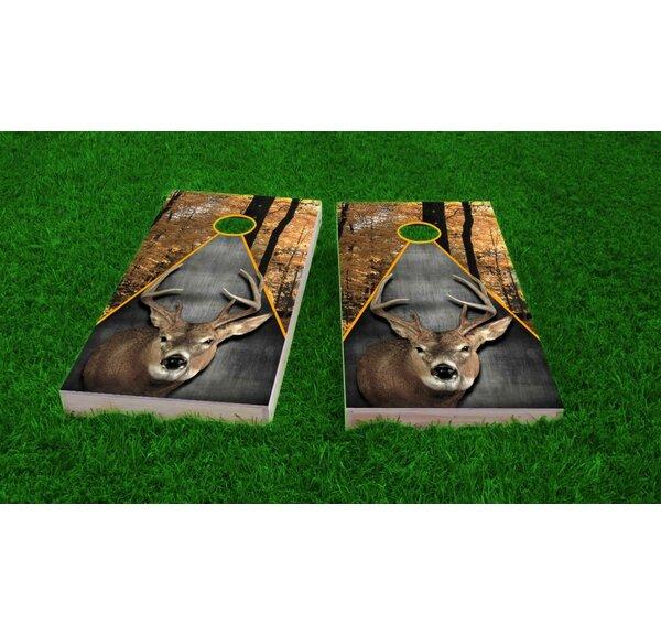 Deer Hunting Theme Cornhole Game Set by Custom Cornhole Boards