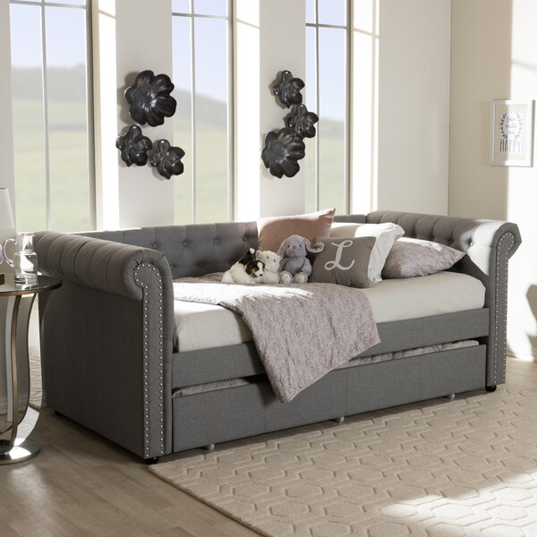 Mickel Modern and Contemporary Fabric Daybed with Trundle by House of Hampton