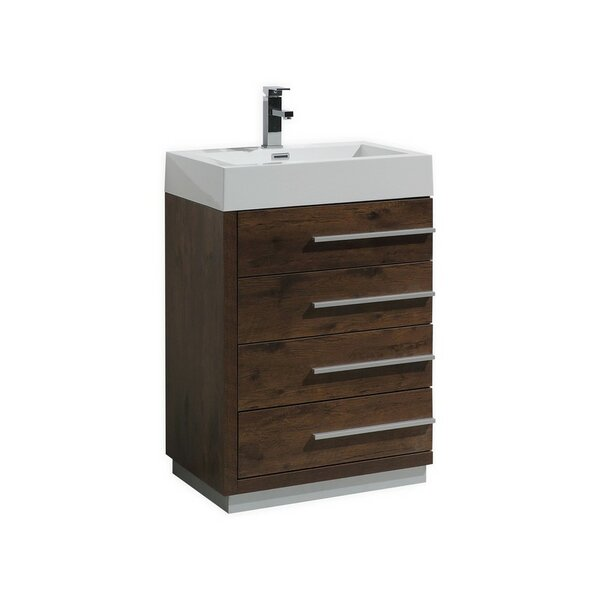 Bova 24 Single Modern Bathroom Vanity by Wrought Studio