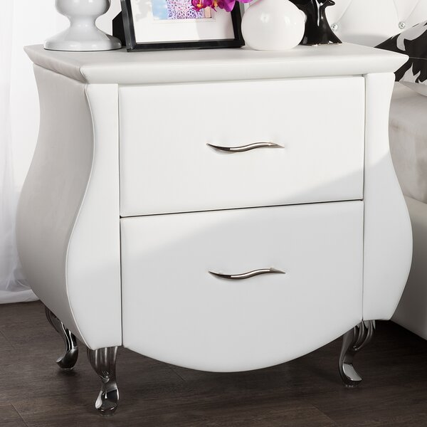 Alfano 2 Drawer Nightstand by Latitude Run