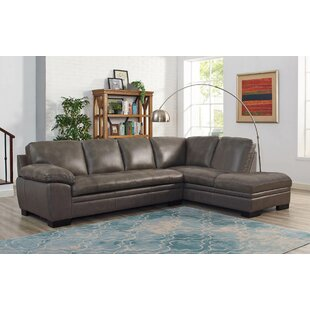 Nick Leather Sectional with Ottoman by Red Barrel Studio