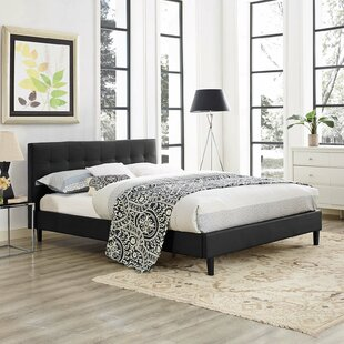 Faux Leather Platform Beds Youu0027ll Love | Wayfair