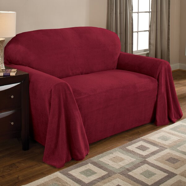 Fleece Box Cushion Sofa Slipcover by Red Barrel Studio
