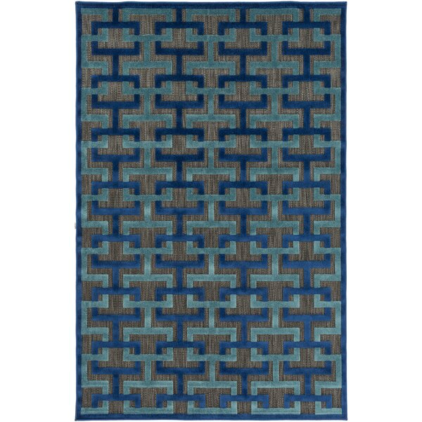 Vaught Black Indoor/Outdoor Area Rug by Wrought Studio