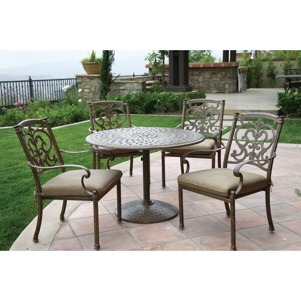 Palazzo Sasso 5 Piece Round Dining Set with Cushions by Astoria Grand