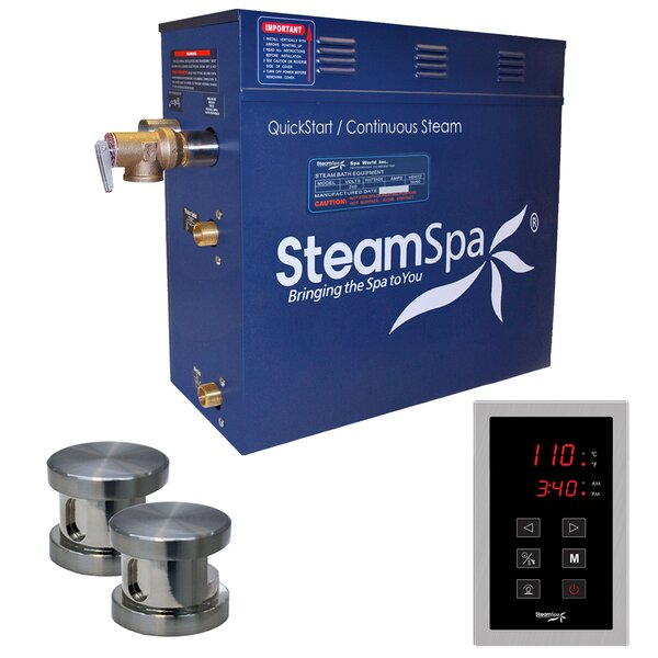 Oasis 12 kW QuickStart Steam Bath Generator Package by Steam Spa