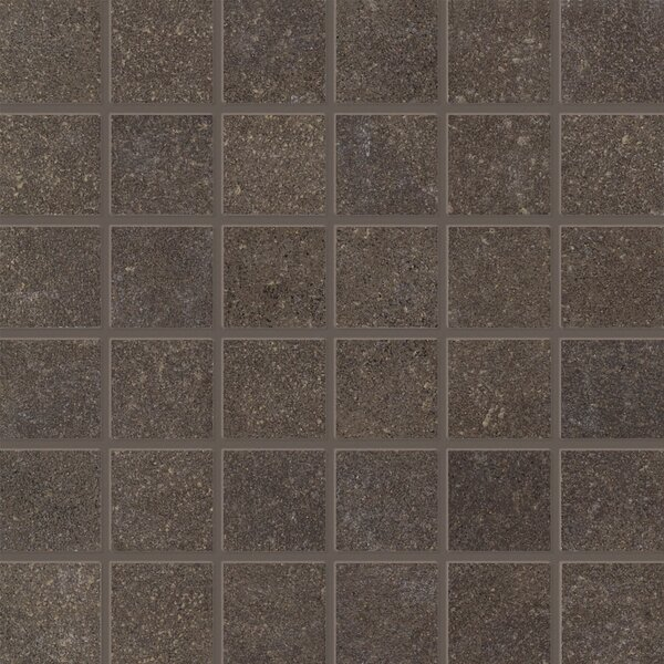 Central Station 2 x 2 Porcelain Mosaic Tile in Brown by PIXL