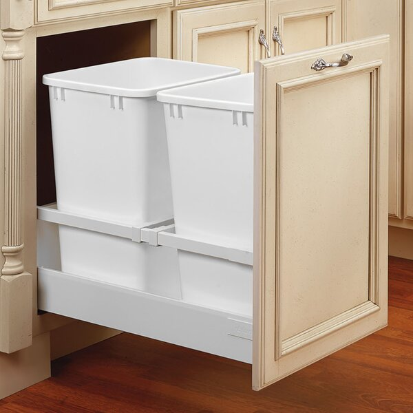 Servo Double 8.75 Gallon Pullout Trash Cans by Rev-A-Shelf