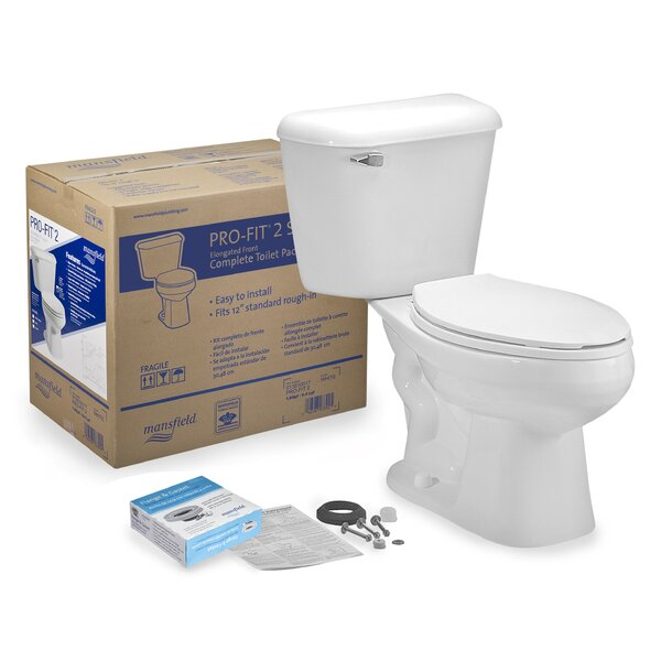 Pro-Fit 2 1.6 GPF Elongated Two-Piece Toilet by Mansfield Plumbing Products