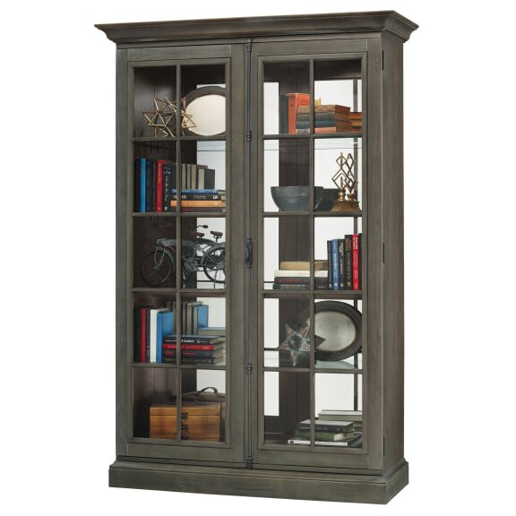Breuer Lighted Curio Cabinet by Darby Home Co