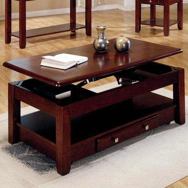 Runulf Solid Wood Lift Top 4 Legs Coffee Table With Storage By Red Barrel Studio