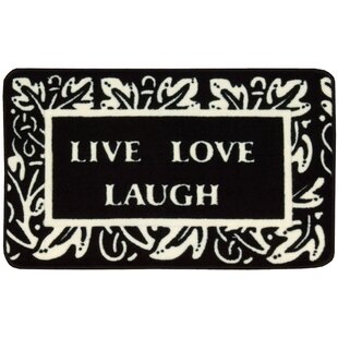 Top Reviews Poquonock Black/White Live, Laugh, Love Area Rug By Charlton Home