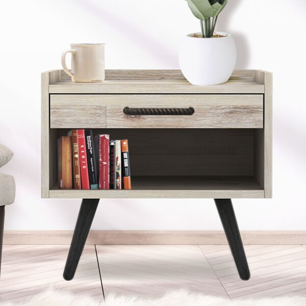 Flint Solid Wood End Table By Union Rustic