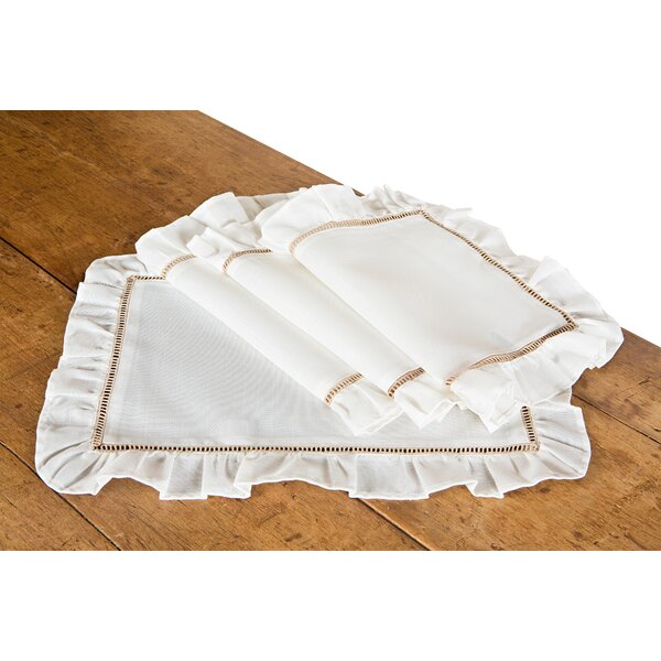 Hemstitch/Ruffle Trim Placemat (Set of 4) by Xia Home Fashions