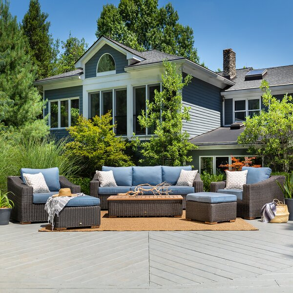 New Boston 6 Piece Sunbrella Seating Group with Cushions by La-Z-Boy Outdoor La-Z-Boy Outdoor