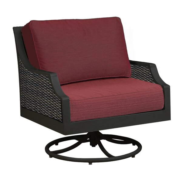 Garmund Patio Swivel Rocking Chair with Cushions by Winston Porter
