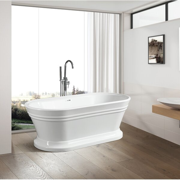 59 x 24 Freestanding Soaking Bathtub by Vanity Art
