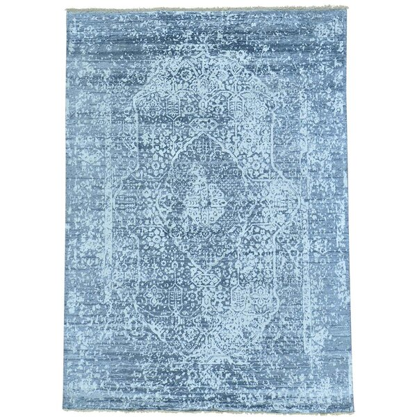 One-of-a-Kind Matheus Broken Hand-Knotted Gray Area Rug by Bungalow Rose