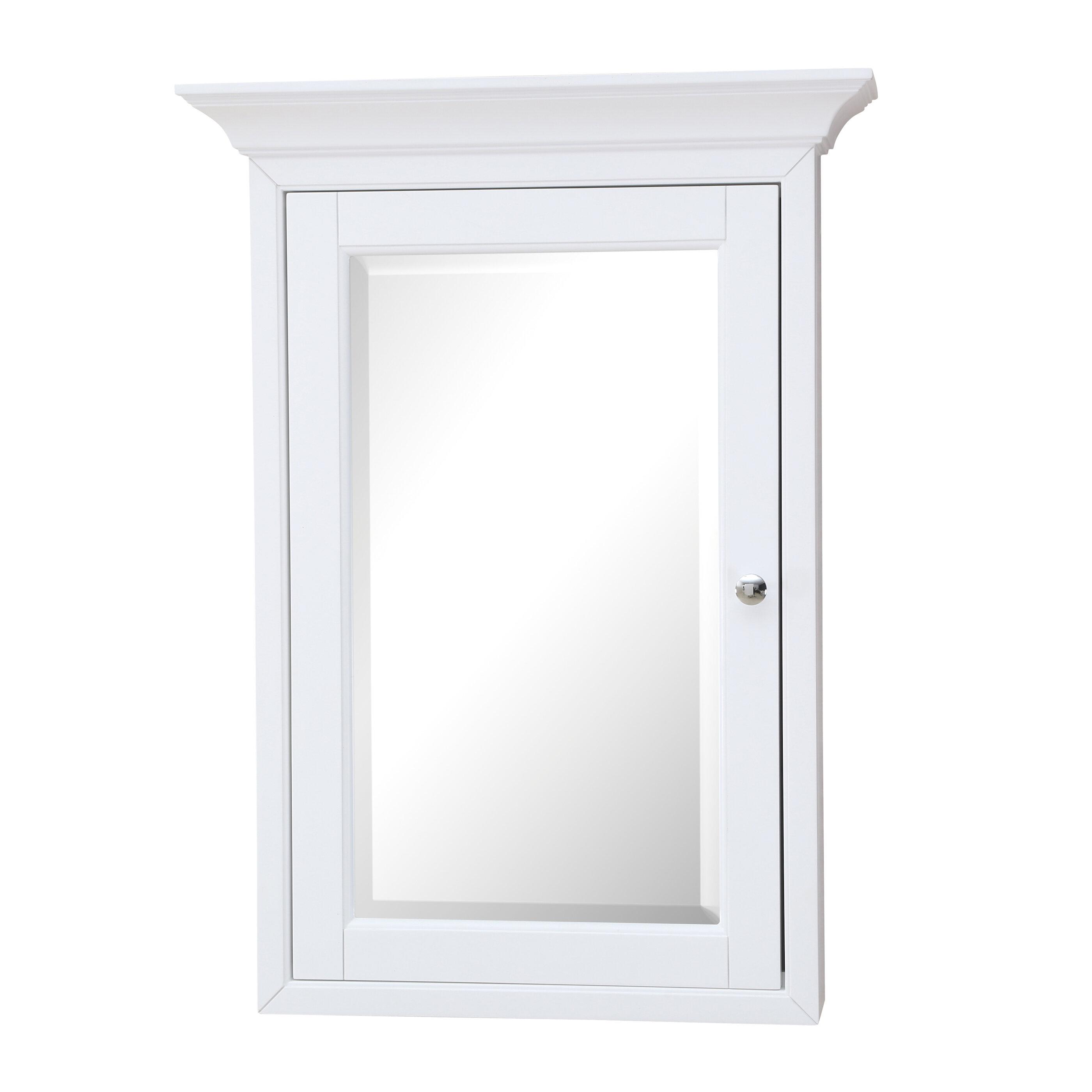 Vasilikos Surface Mount Framed 1 Door Medicine Cabinet With 4 Adjustable Shelves Reviews Birch Lane