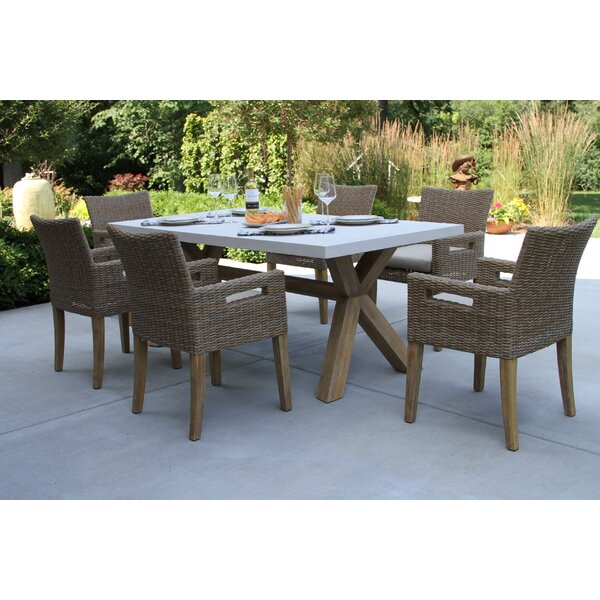 Bayswater 7 Piece Dining Set with Cushions by Rosecliff Heights
