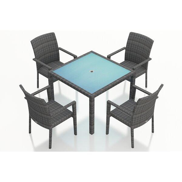 District 5 Piece Sunbrella Dining Set by Harmonia Living