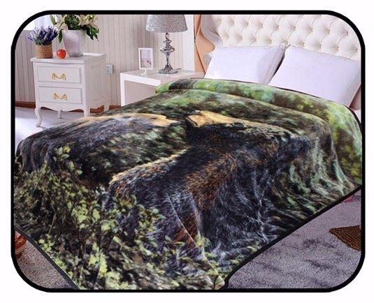 Hiyoko Safari Bear Animal Mink Blanket by JCP Hometex Inc.
