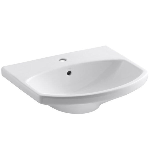 Cimarron® Ceramic 23 Pedestal Bathroom Sink with Overflow by Kohler