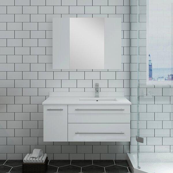 Lucera 36 Wall Hung Undermount Sink Single Bathroom Vanity