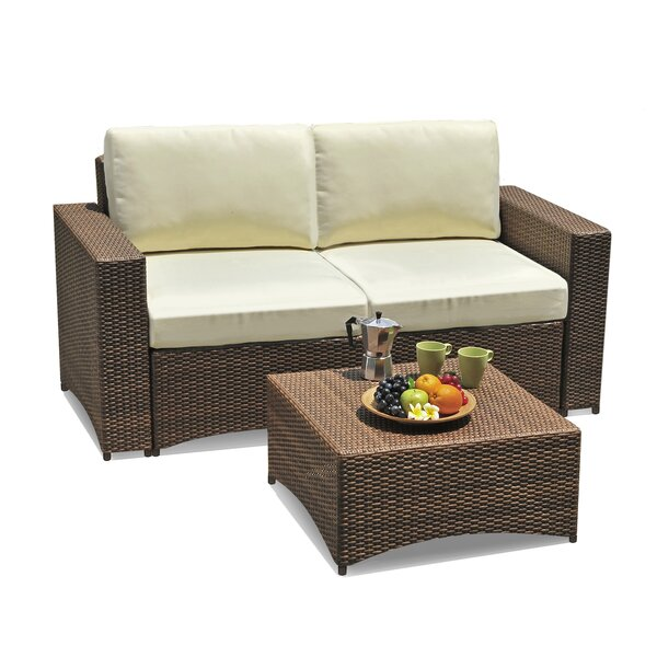 Nelligan Modular 2 Piece Sofa Seating Group with Cushions by Wrought Studio