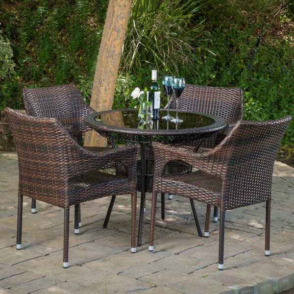 Draeger Outdoor 5 Piece Dining Set by Ivy Bronx