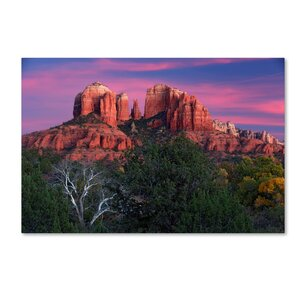 'Sedona Cathedral Rock Dusk' Photographic Print on Wrapped Canvas by Trademark Fine Art