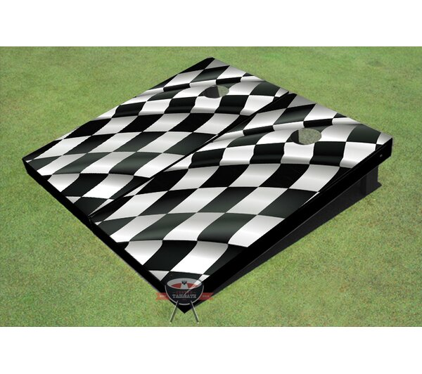 Checkered Flag Cornhole Board (Set of 2) by All American Tailgate