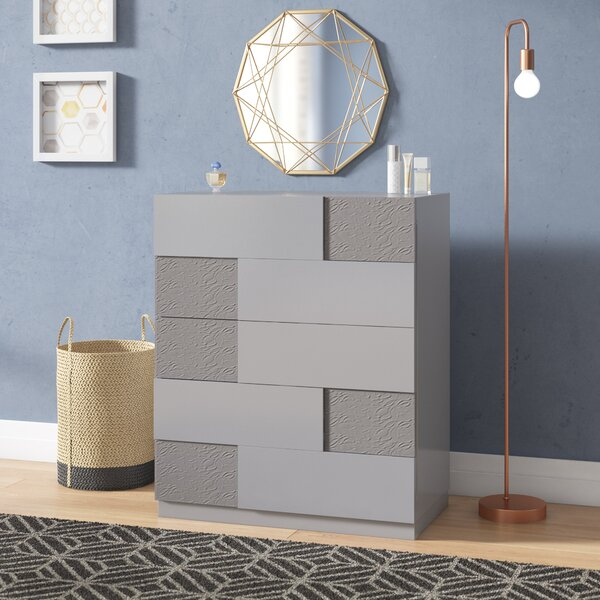 Lyset 5 Drawer Chest by Latitude Run