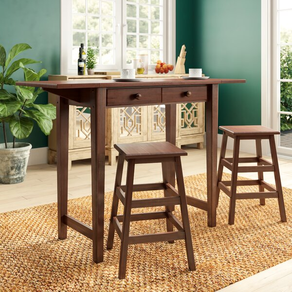 Poynter 3 Piece Drop Leaf Dining Set by Andover Mills