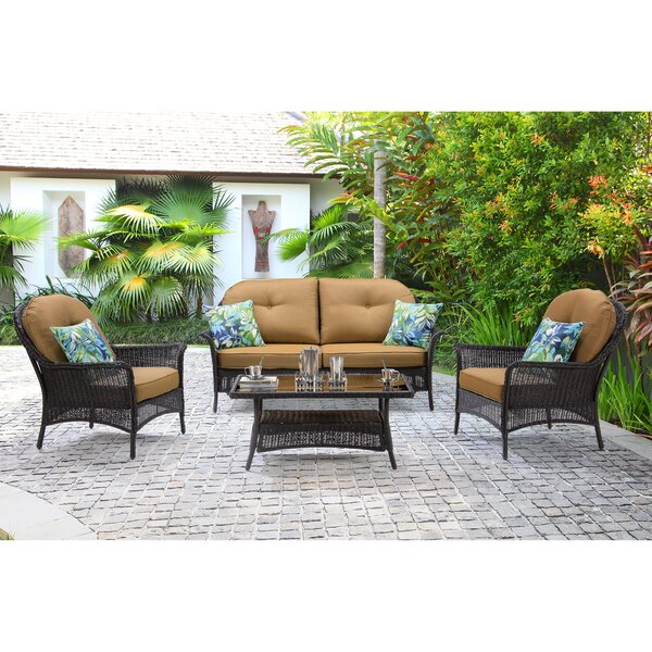 Kinnison 4 Piece Sofa Set with Cushions by Bayou Breeze Bayou Breeze