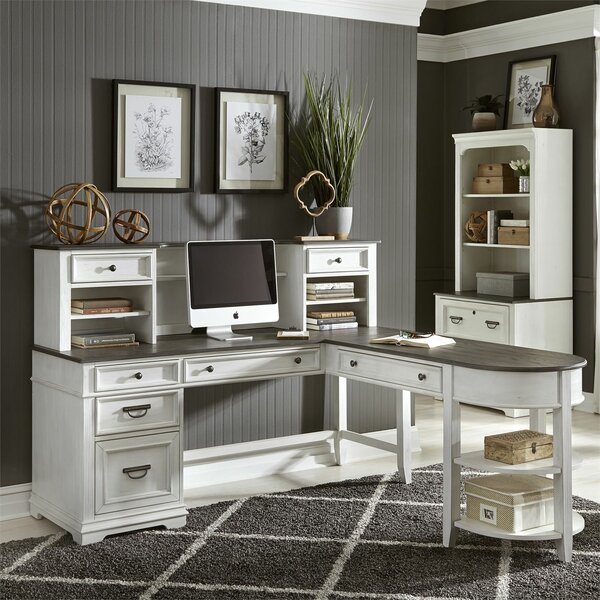 Charland L-Shape Desk with Hutch