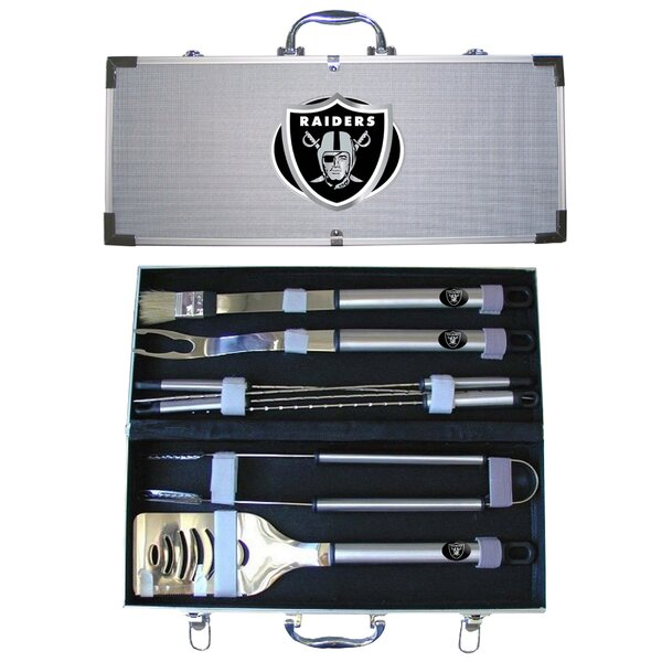 NFL 8-Piece BBQ Grilling Tool Set by Siskiyou Products
