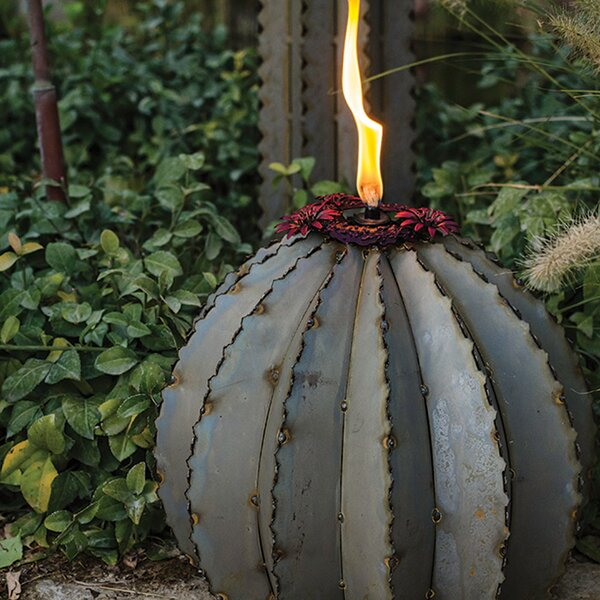 Golden Barrel Garden Torch By Desert Steel.