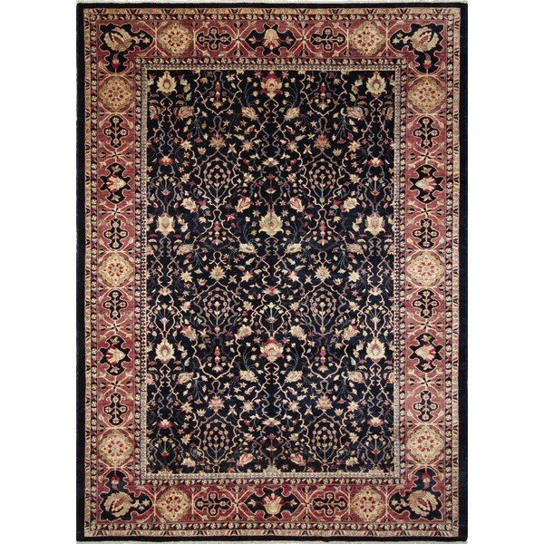 One-of-a-Kind Acree Hand-Knotted Oriental Blue Area Rug by Isabelline