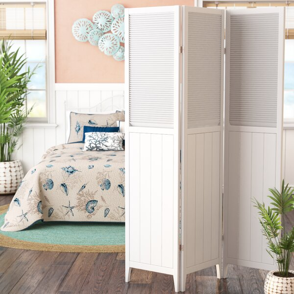 Brigitte 3 Panel Room Divider by Highland Dunes