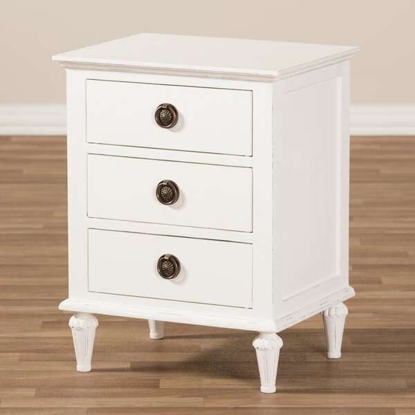 Michel 3 Drawer Nightstand by August Grove