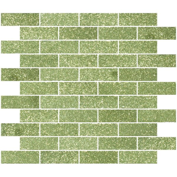 1 x 3 Glass Subway Tile in Glossy Light lime green by Susan Jablon