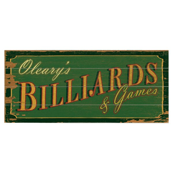Personalized Billiards & Games Textual Art Multi-Piece Image on Wood by Artehouse LLC