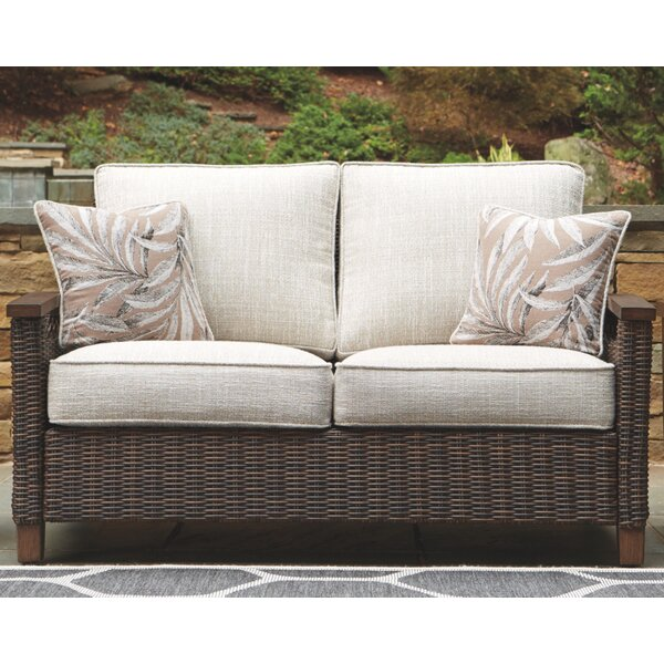 Estill Loveseat with Cushions by Highland Dunes