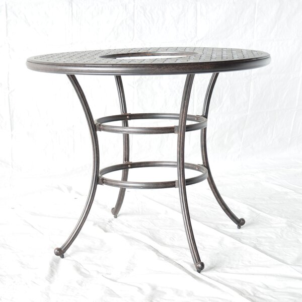 Nola Bar Table with Ice Bucket by Darby Home Co